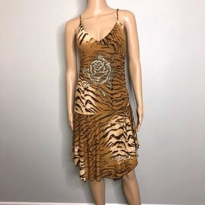 Ed Hardy asymmetrical midi  dress